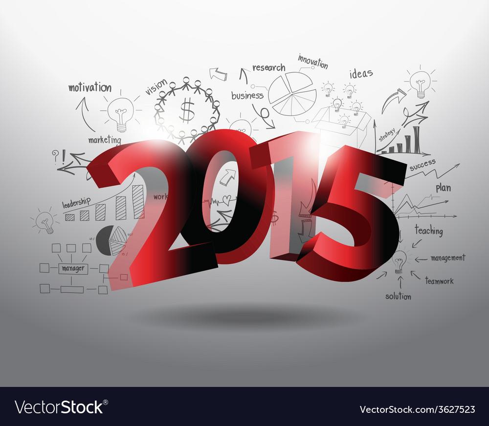 New year 2015 three dimensional