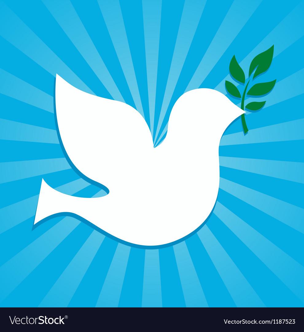 Peace Dove Symbol Royalty Free Vector Image Vectorstock