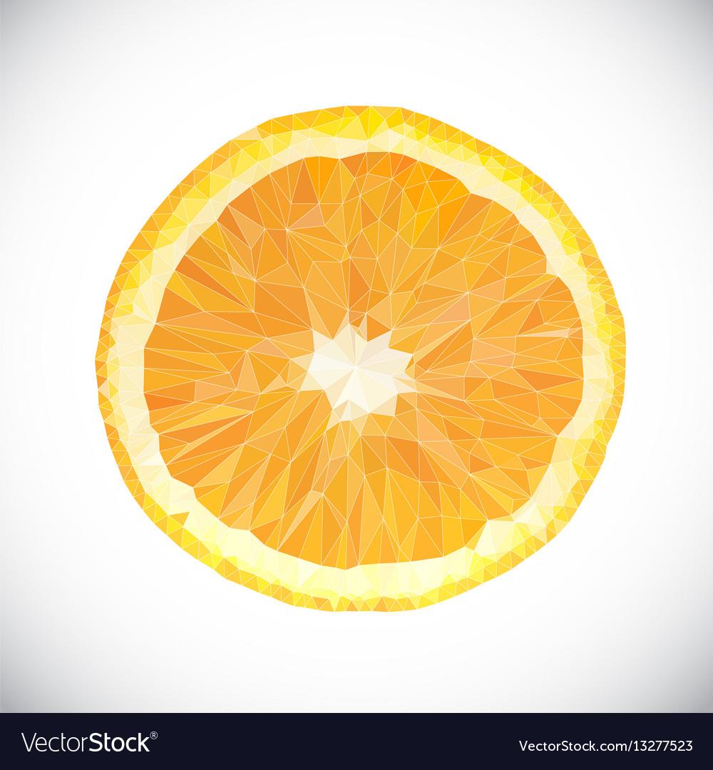 Polygonal orange fruit icon vector image