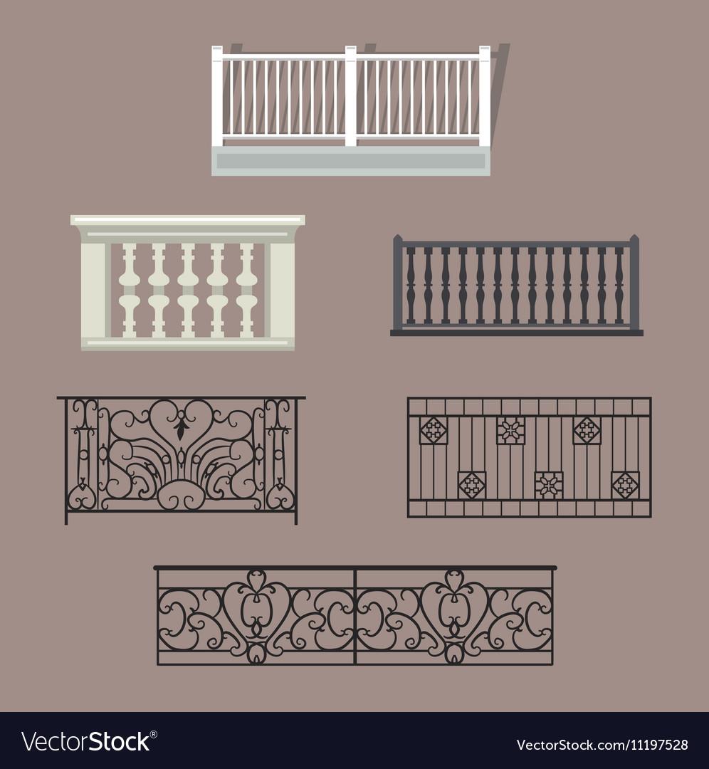 balcony railing vector image - Balcony Railing