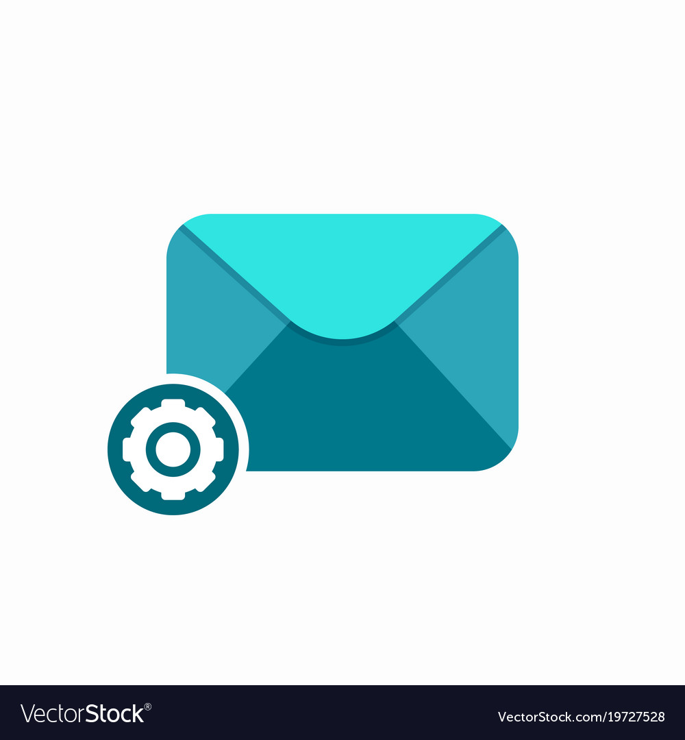 Email envelope mail message settings icon