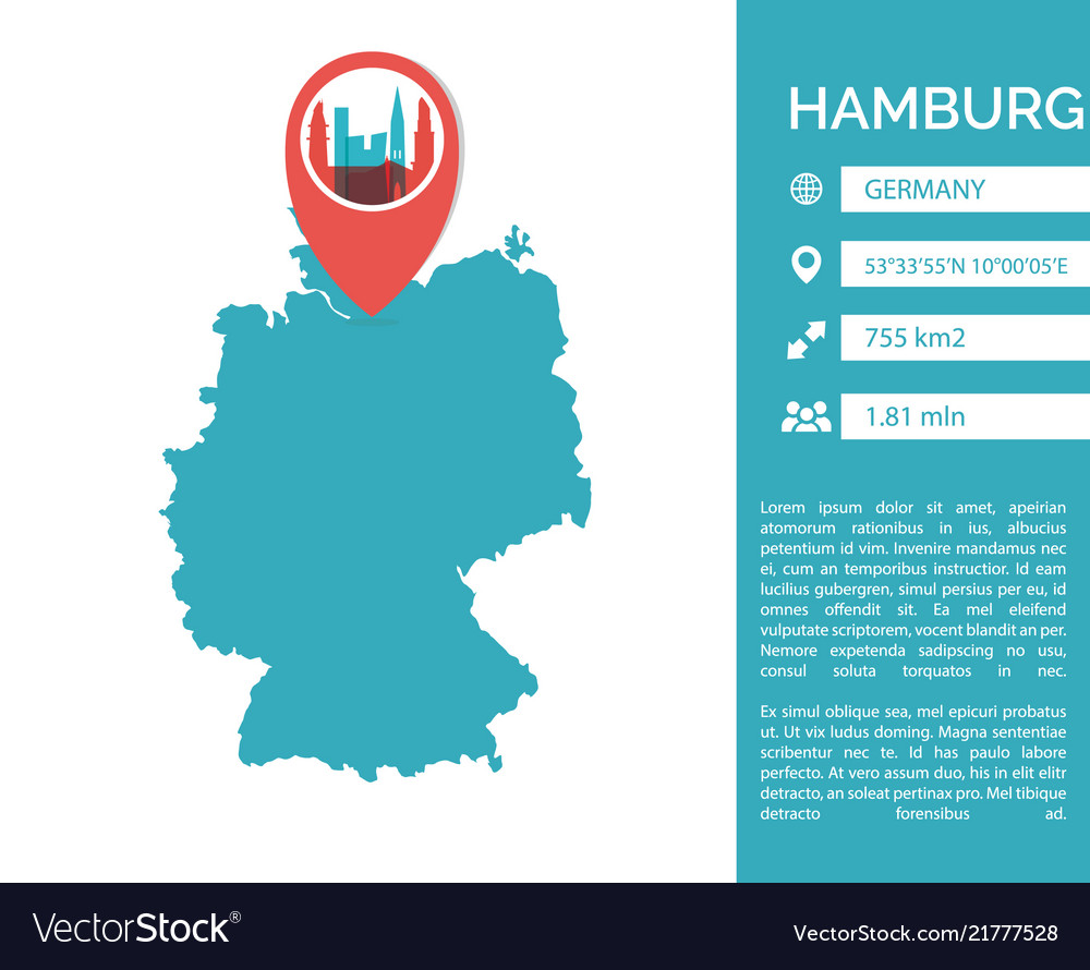 Hamburg map infographic