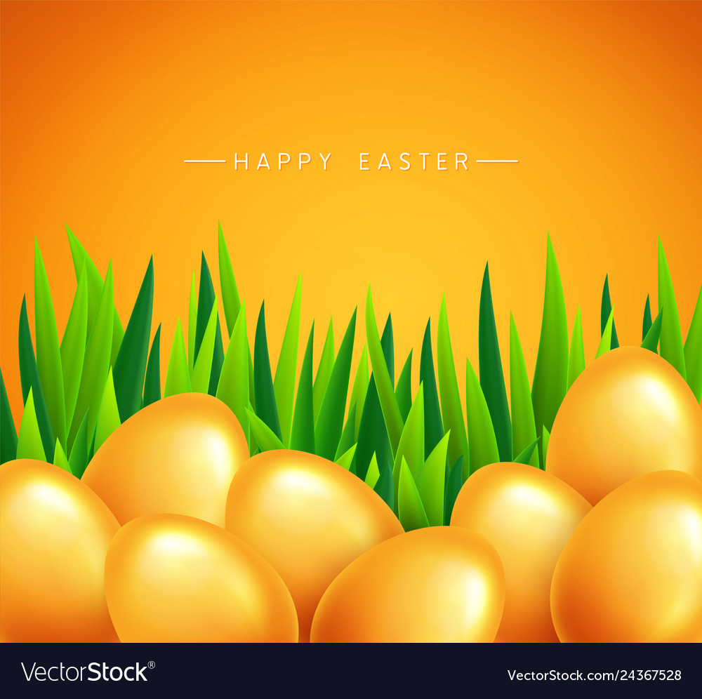 Happy easter banner background template