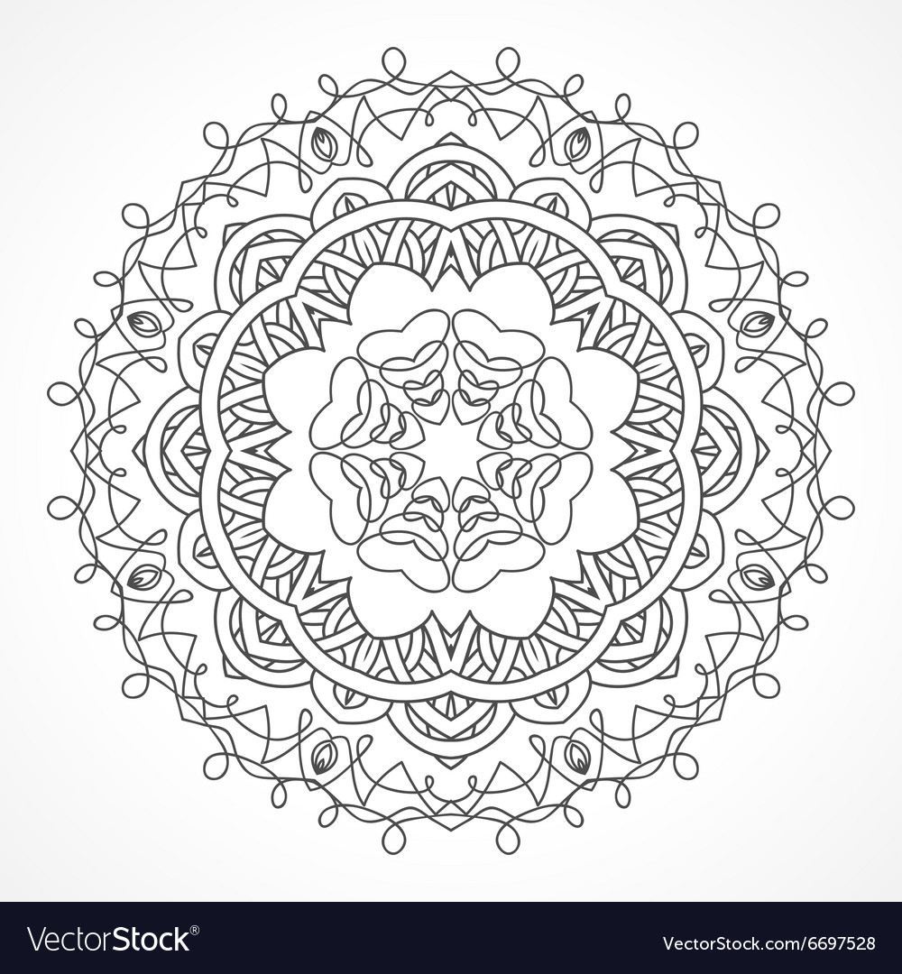 Mandala Ethnic decorative elements