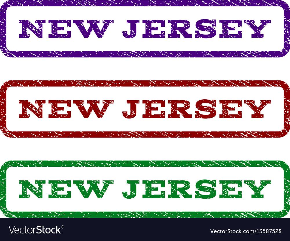 New Jersey Watermark Stamp Vector Image