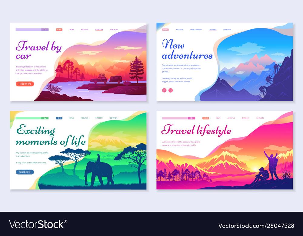 Travel car traveling lifestyle set websites