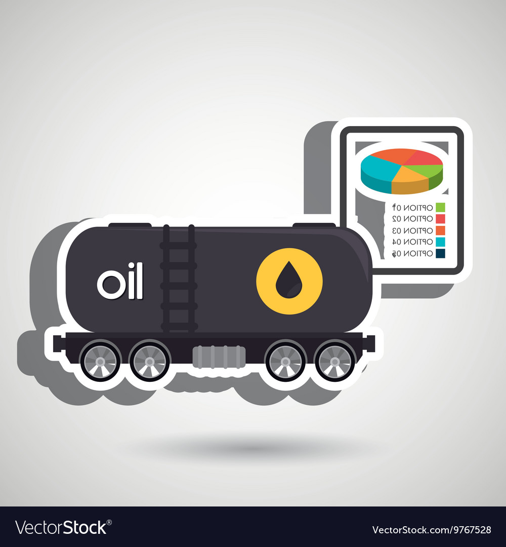 Truck petroleum isolated icon design