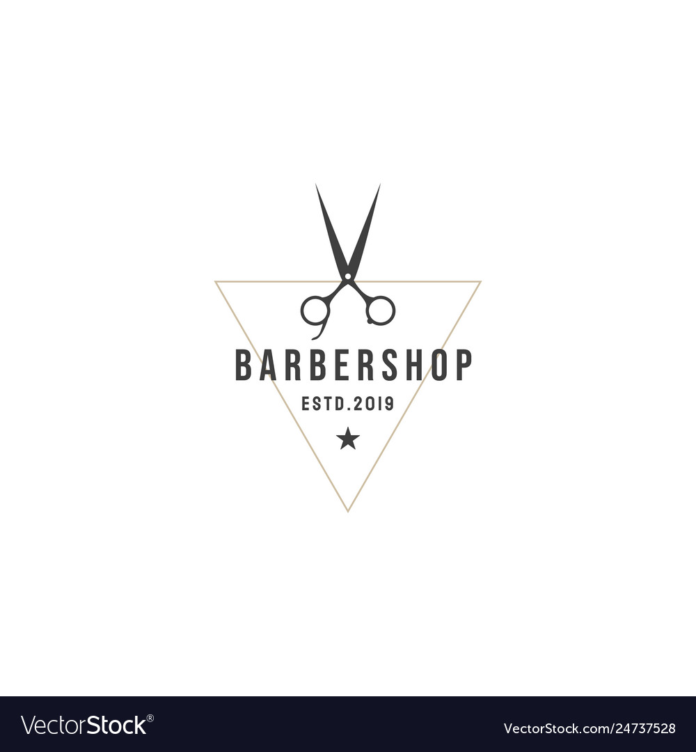 Vintage barbershop labels templates for the