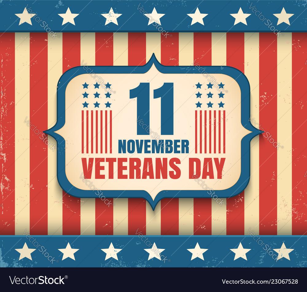 Vintage poster for veterans day