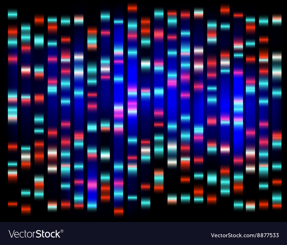 An abstract example of DNA fingerprinting vector image