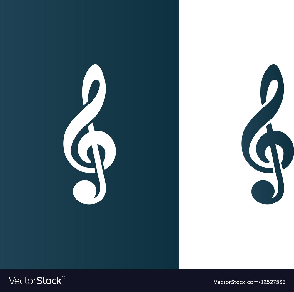 Clef Music symbol Logo icon business - isolated vector image