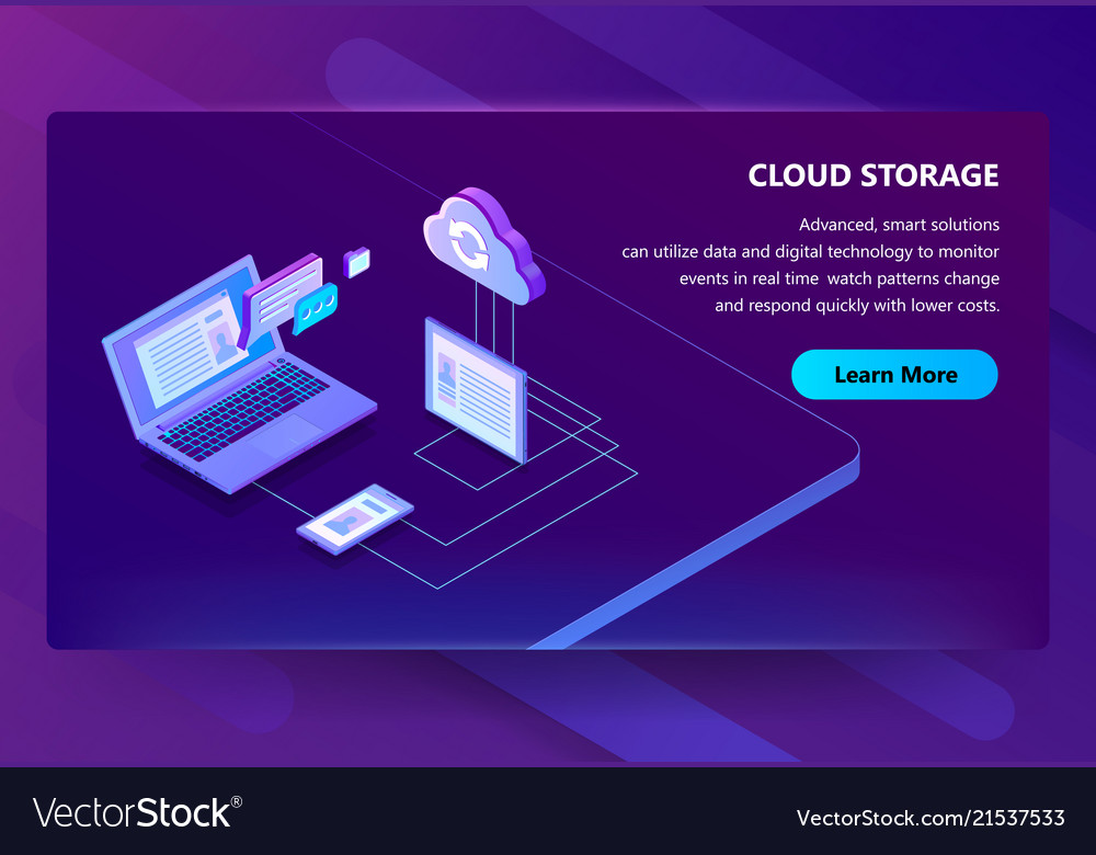 Cloud storage web technology