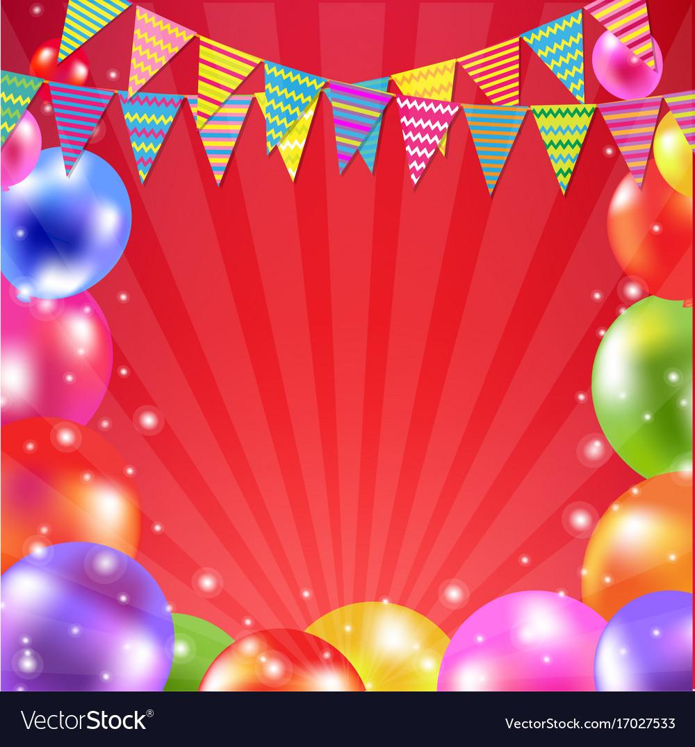 Color balloon banner