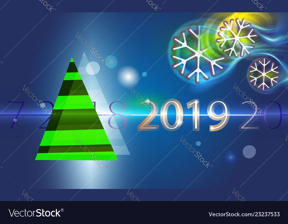 Dark blue christmas background with green tree