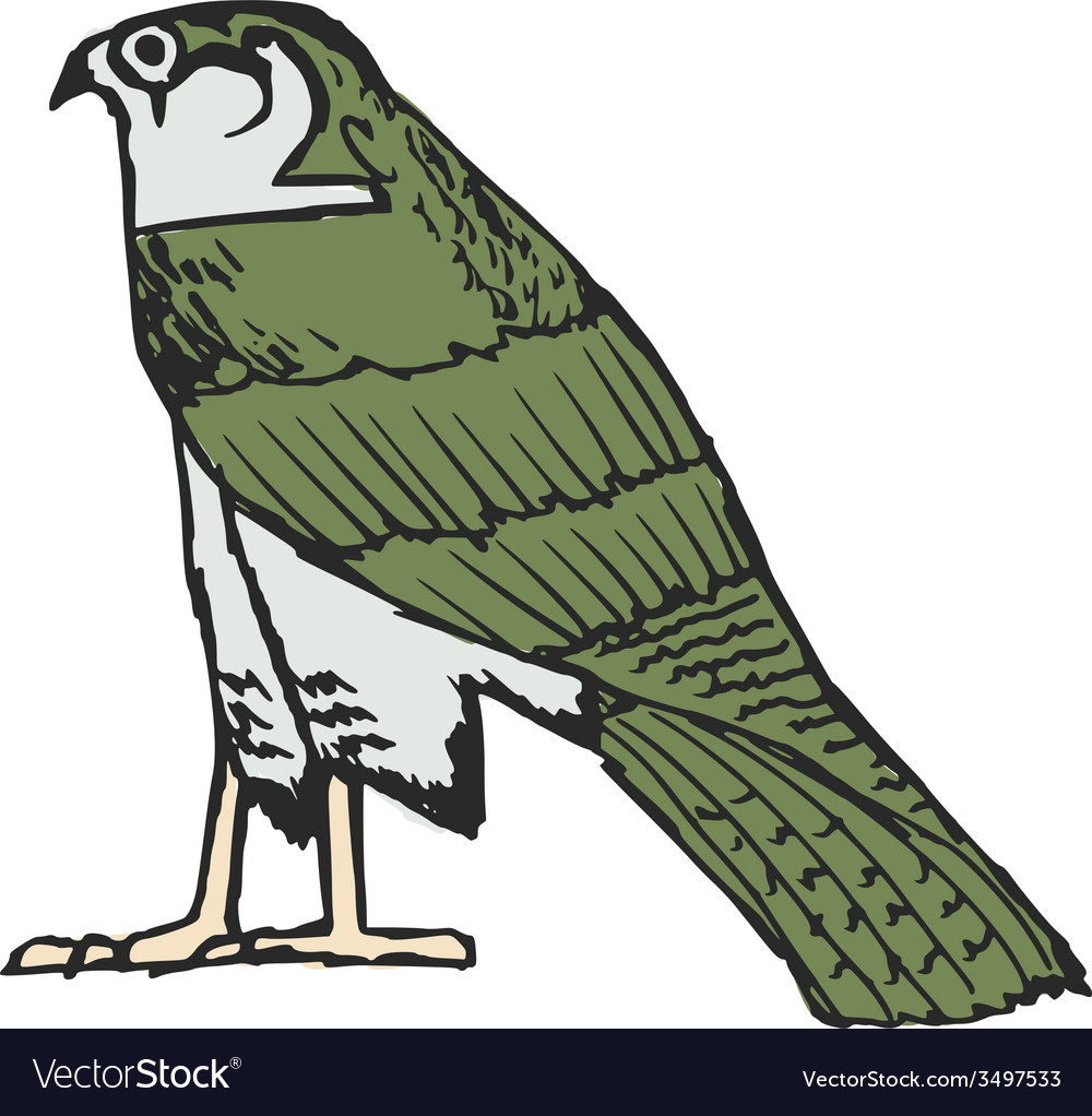 Falcon - ancient Egyptian symbol vector image
