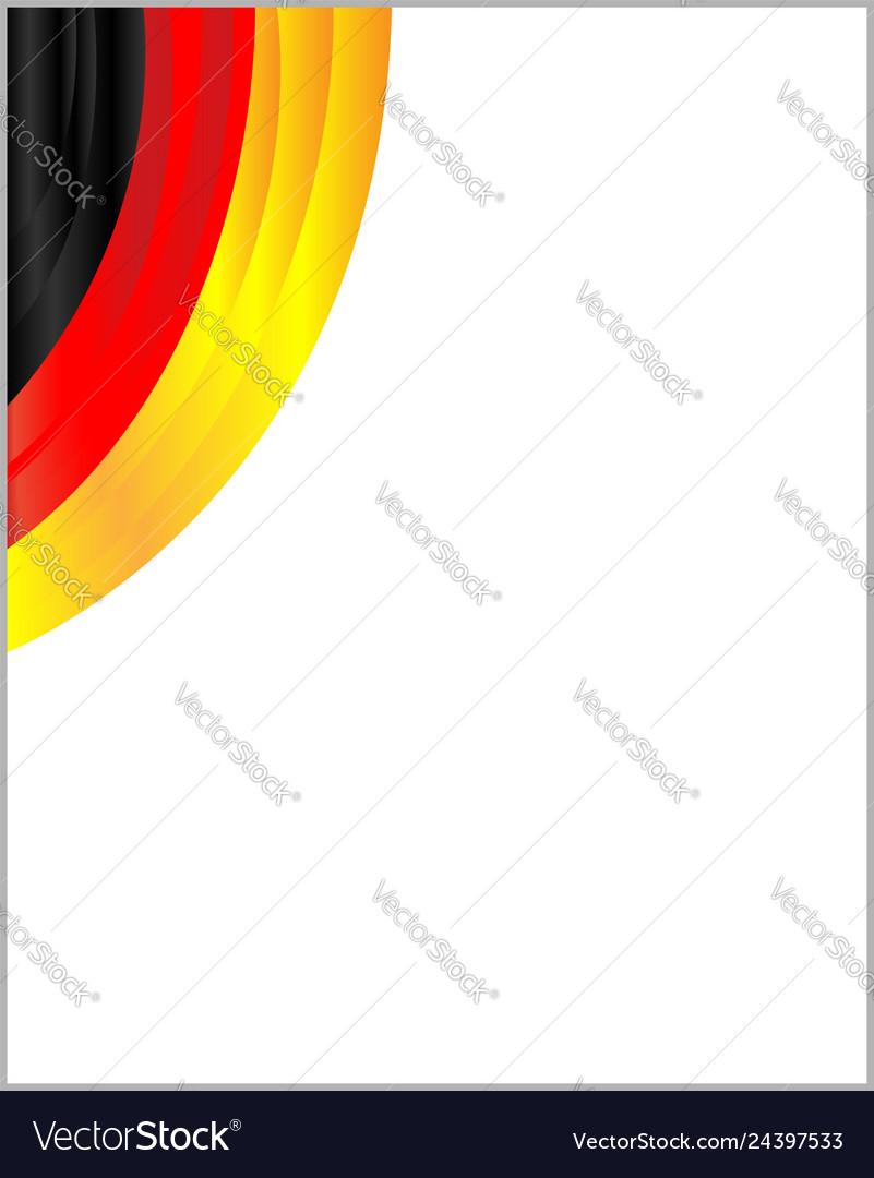 German flag ribbon corner frame