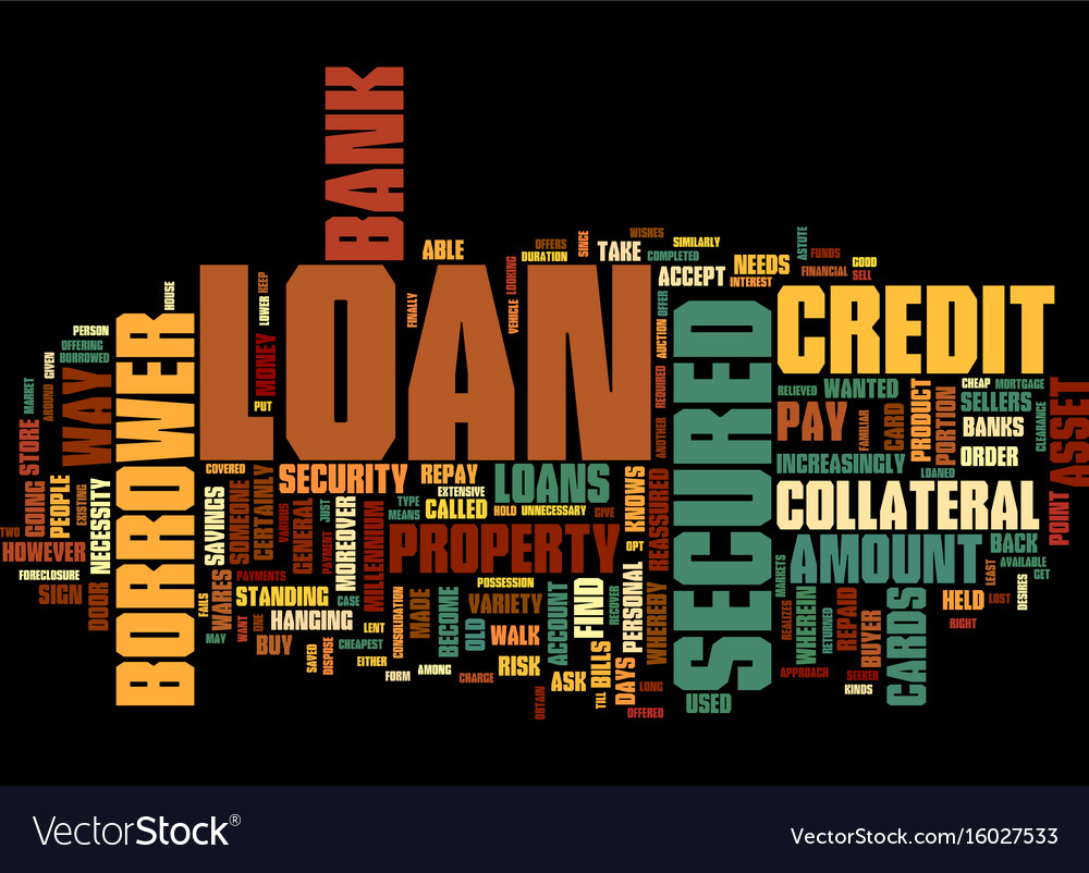 Give an asset and take a loan text background