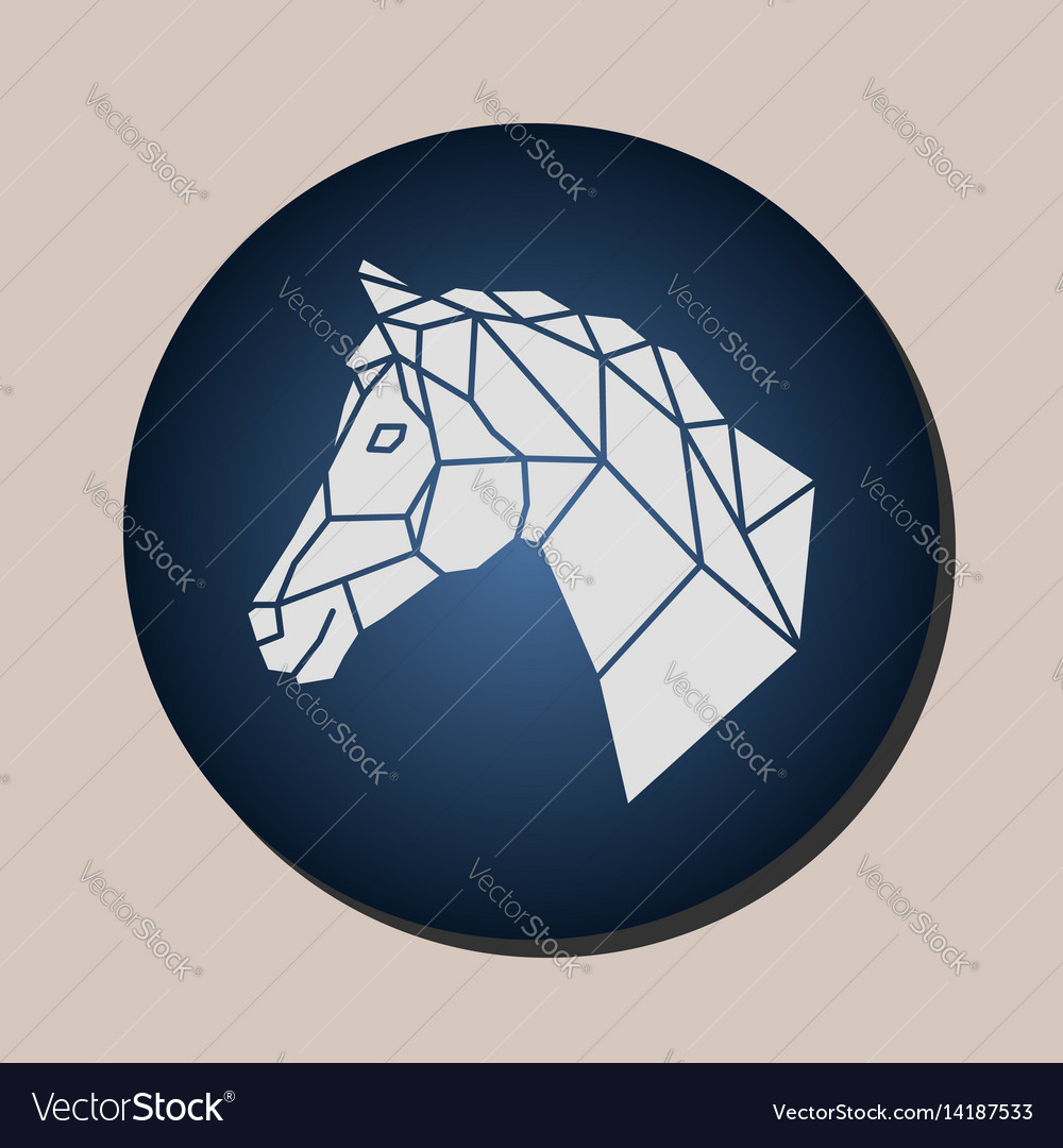 Horse Geometric Logo In A Circle Royalty Free Vector Image