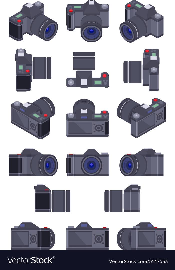 Isometric photo camera vector image