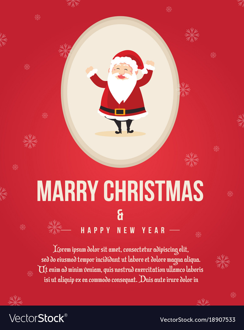 merry christmas poster template collection vector image