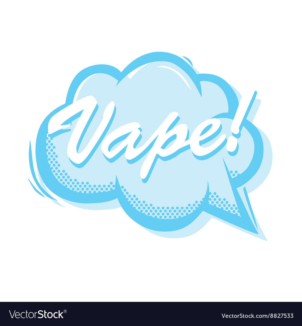 Vape smoke bubble popart style isolated vector image