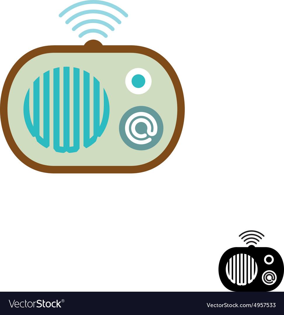 Web radio symbol