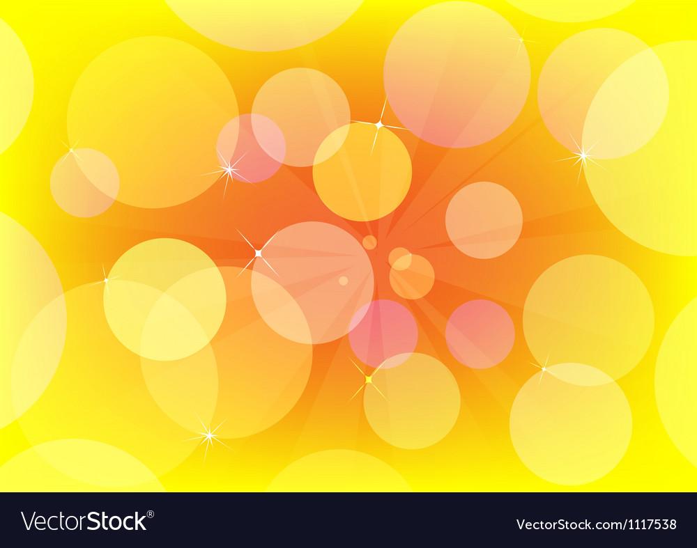 Abstract circle design yellow