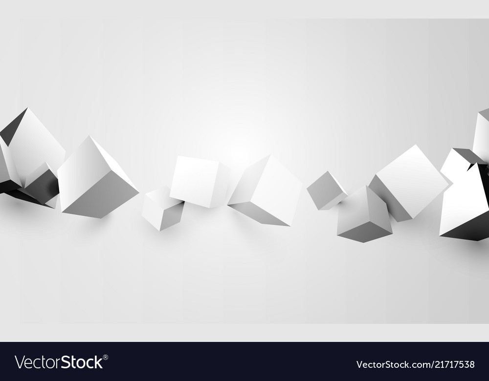 Abstract white 3d boxes background