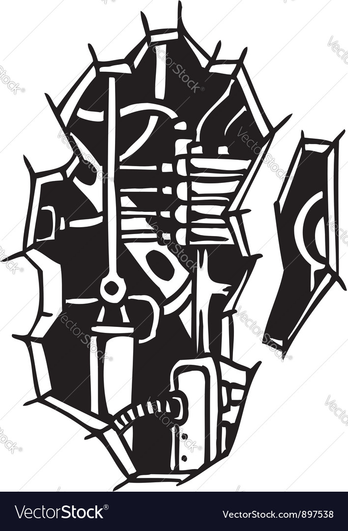 Biomechanical Designs vector image