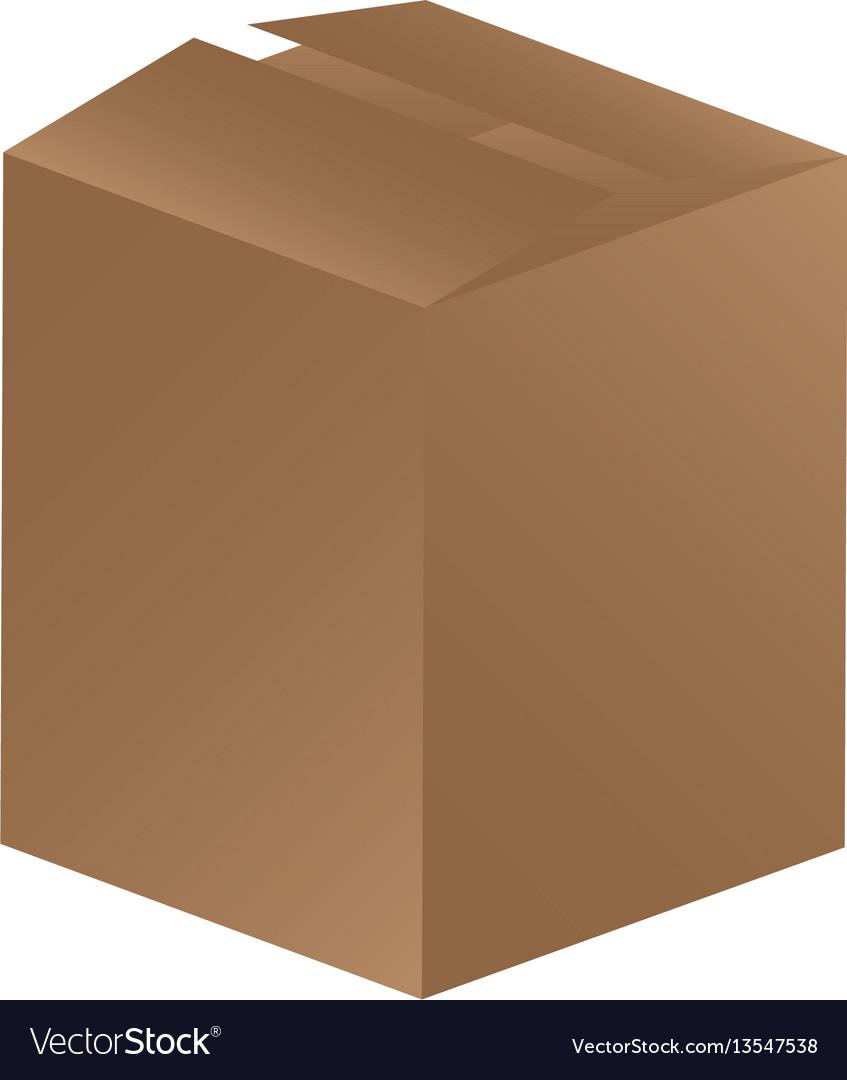 Brown box closed icon