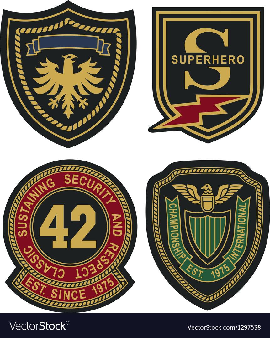Emblem badge shield