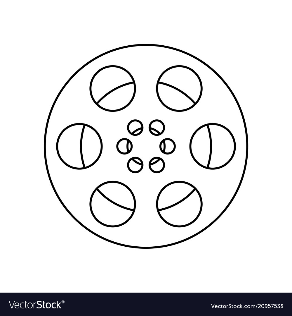 Film frame film roll symbol Royalty Free Vector Image