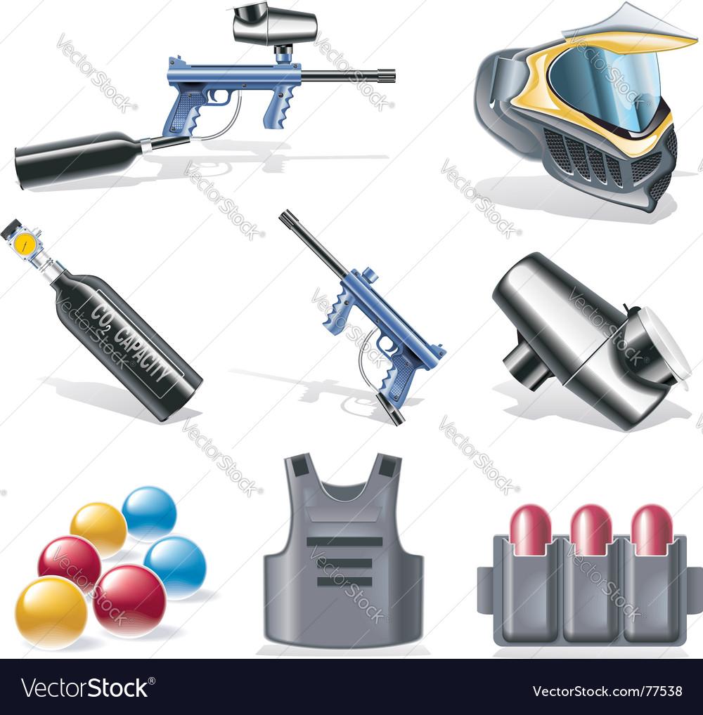 Paintball icon set