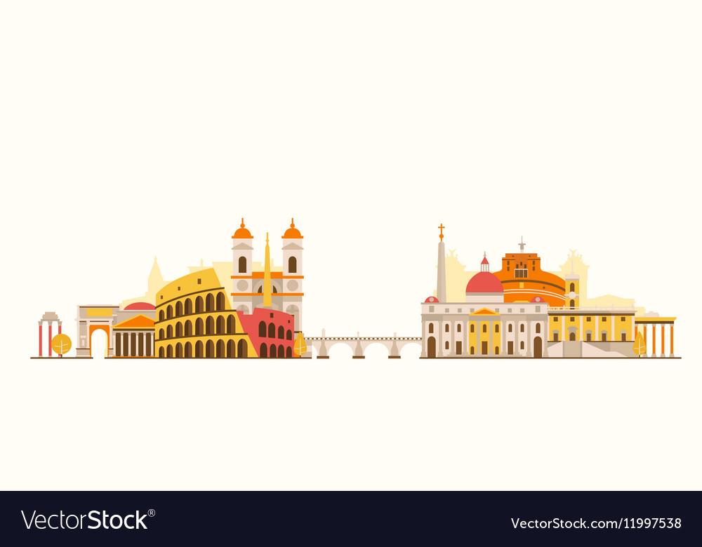 Rome abstract skyline