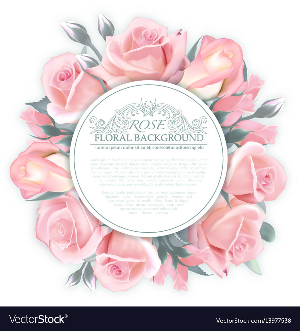 Rose wreath template for wedding