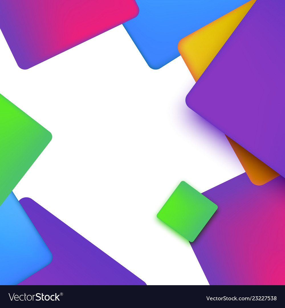 Vibrant geometric abstract background with simple