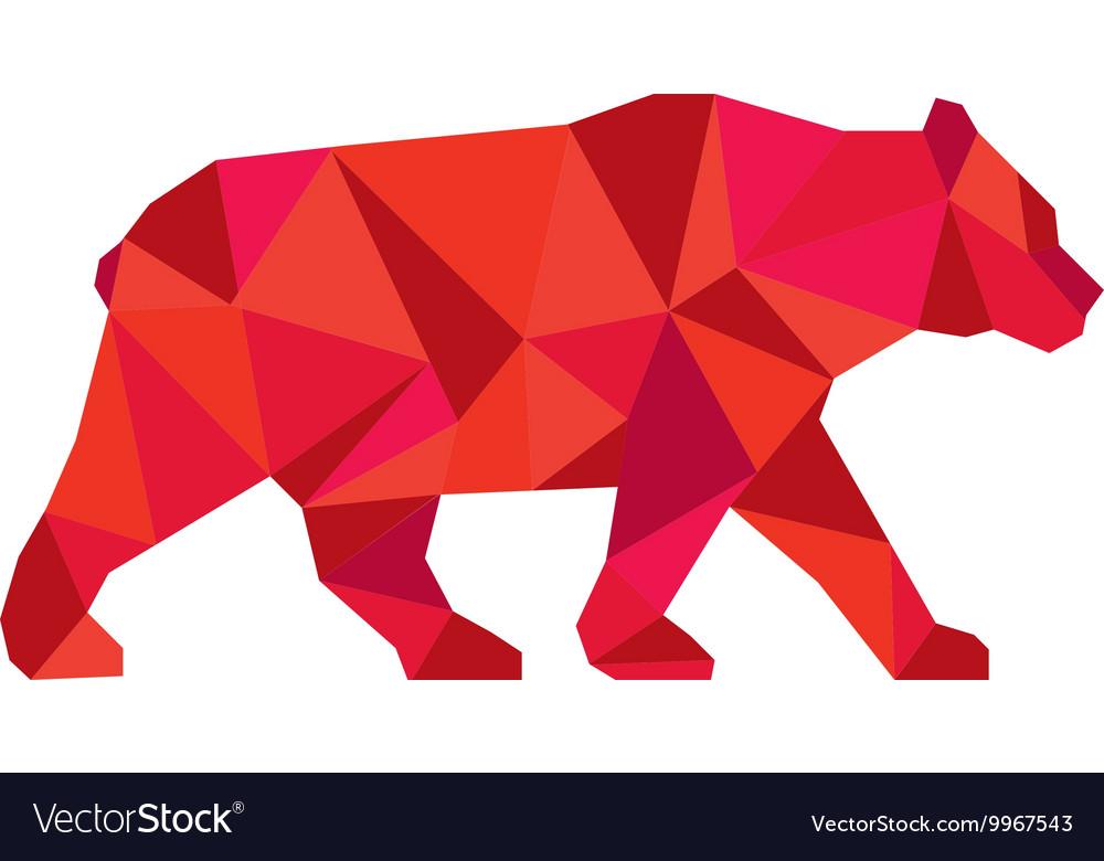 American Black Bear Walking Low Polygon