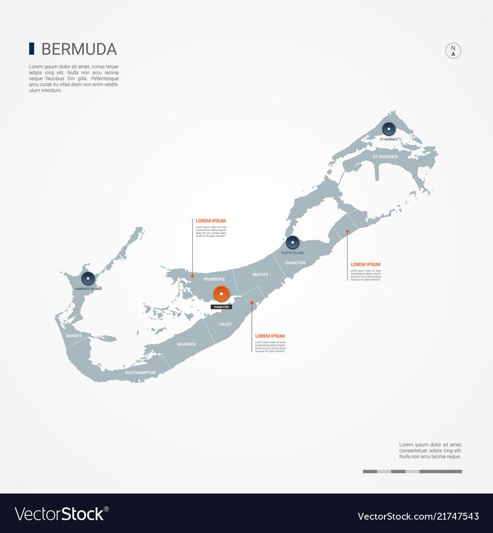 Bermuda infographic map