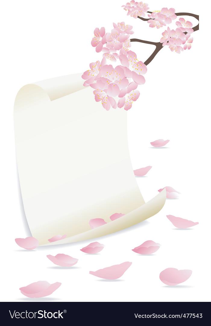 Frame flower port vector image