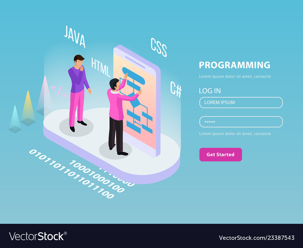 Freelance programming isometric composition