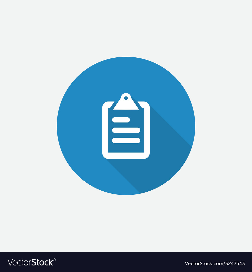 List Flat Blue Simple Icon with long shadow