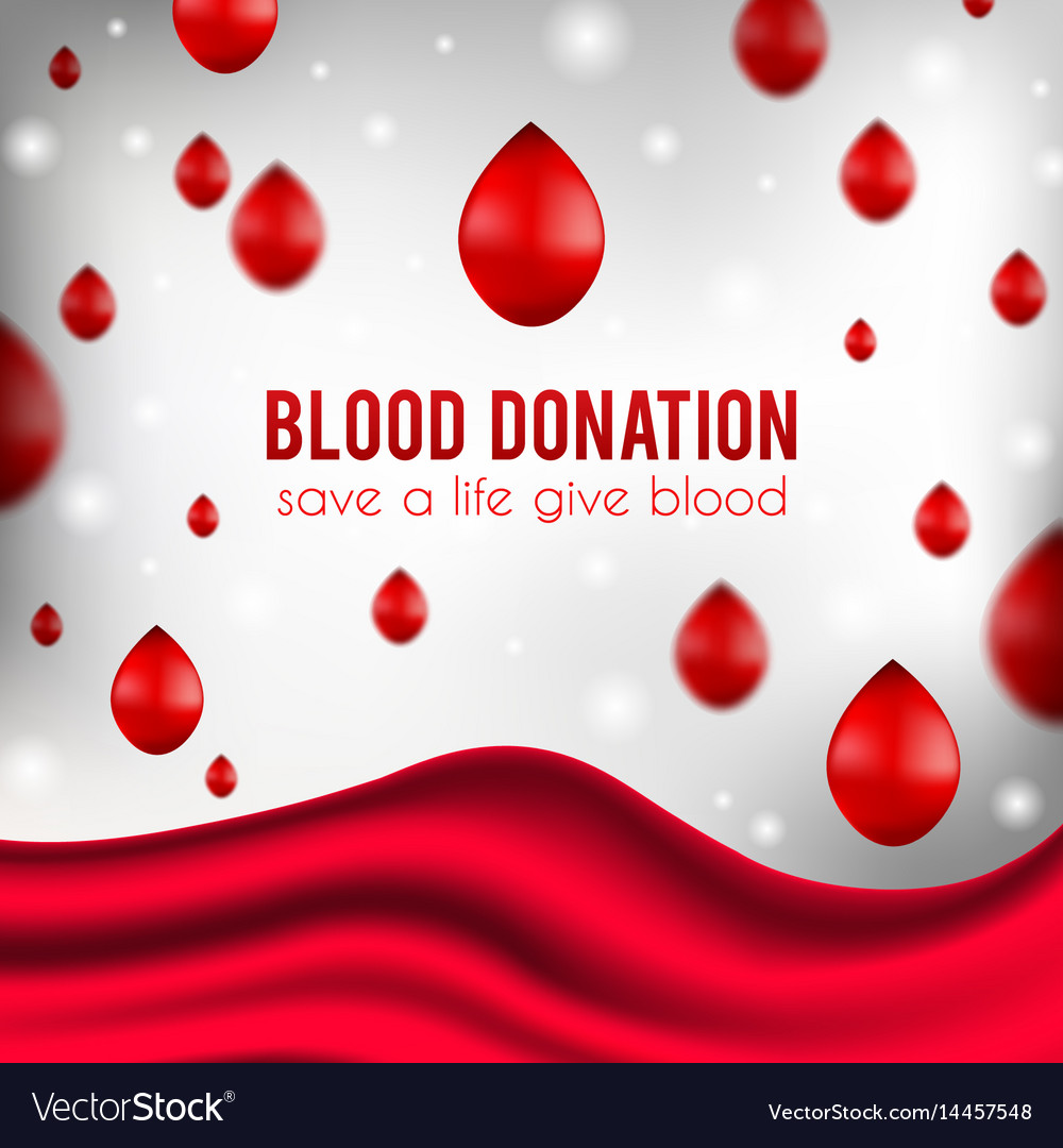 Blood donation poster realistic