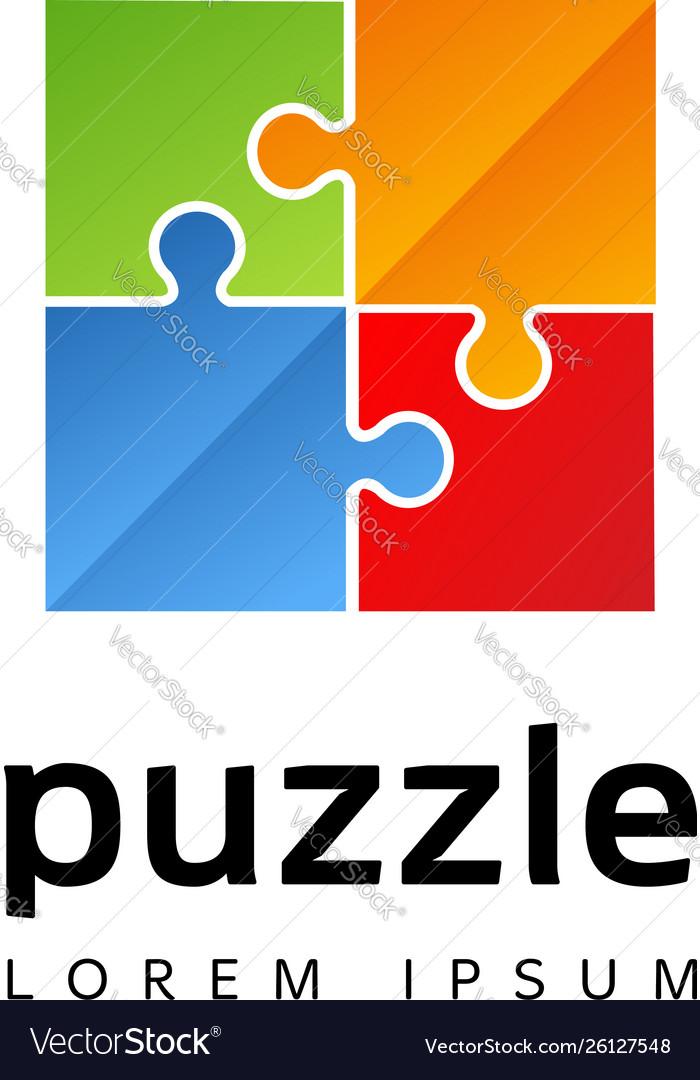 Colorful puzzle logo sign symbol icon