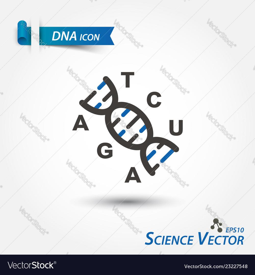 Dna icon deoxyribonucleic acid scientific