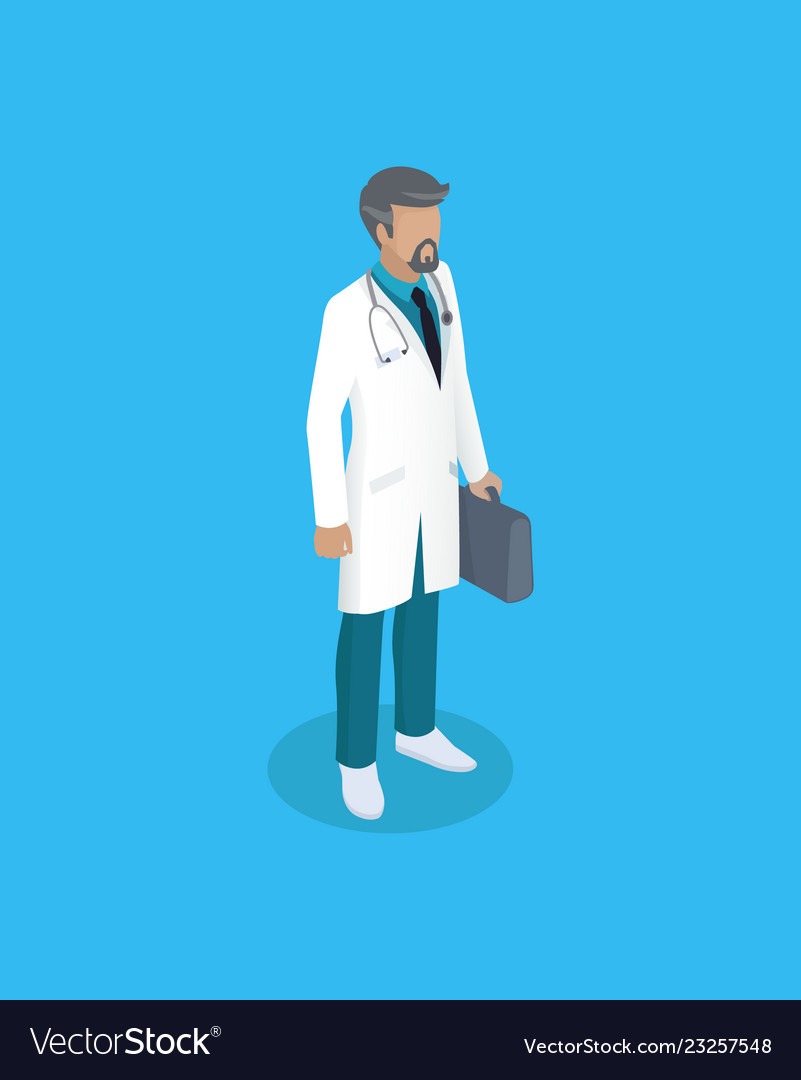 Doctor in uniform working concept icon