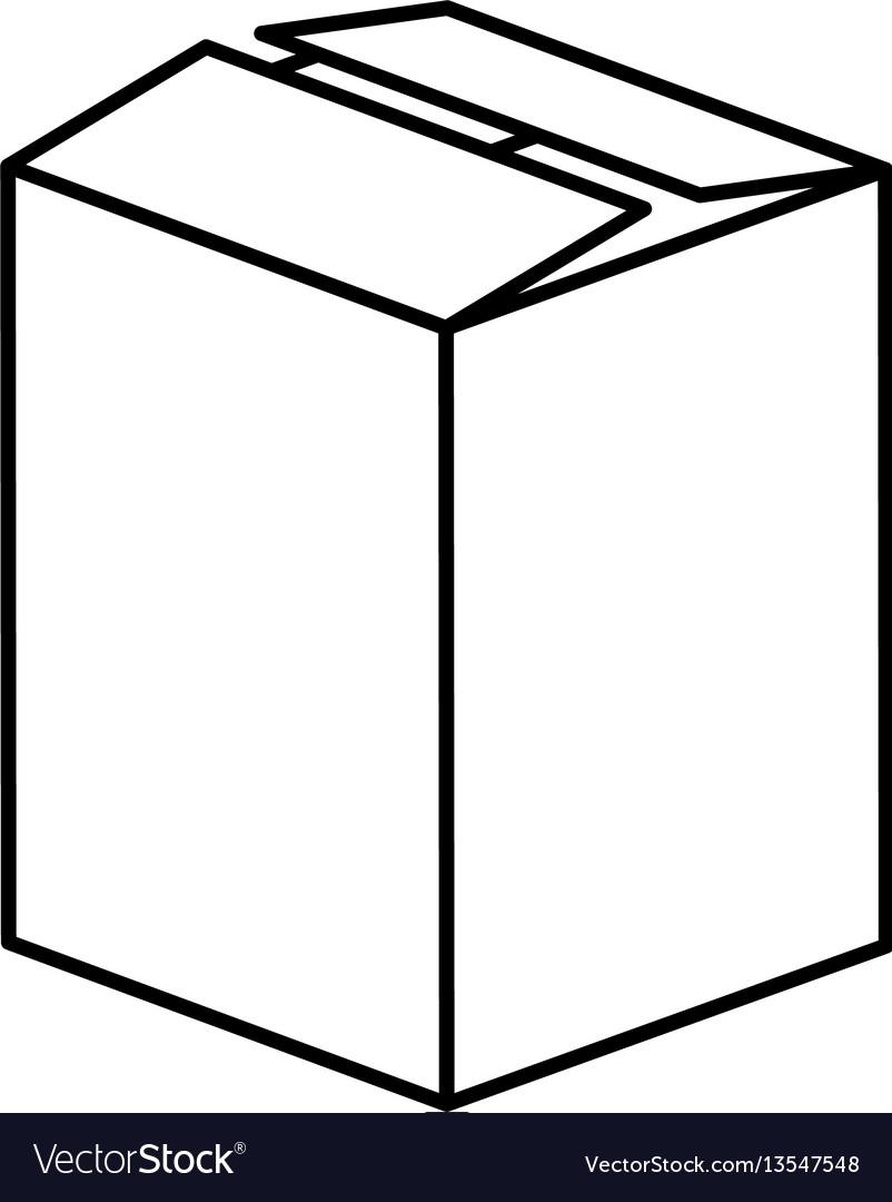Figure box closed icon vector image