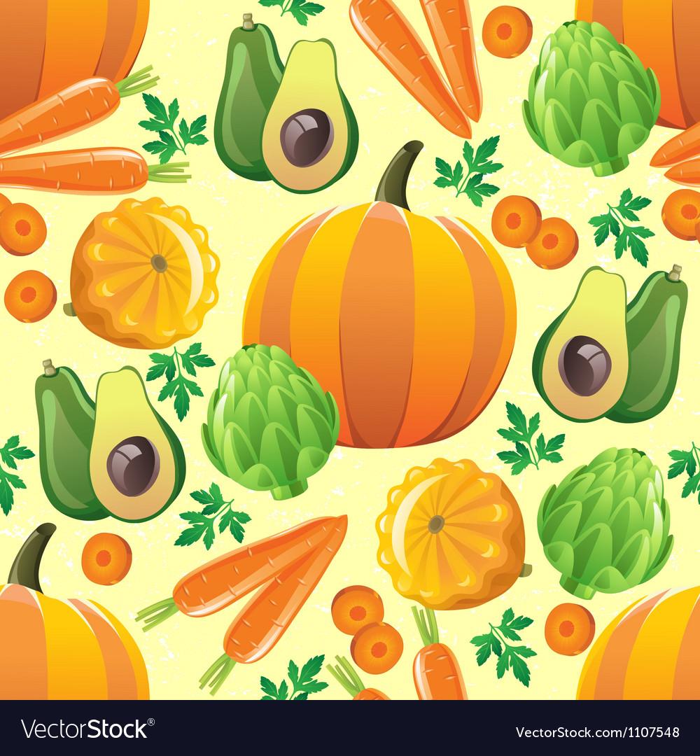 Orange vegetables seamless
