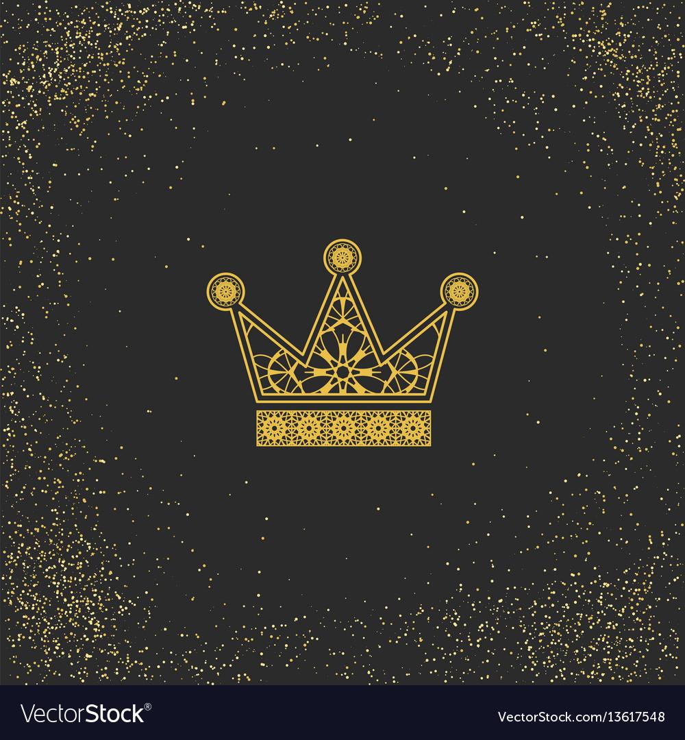 Ornamental crown logo template