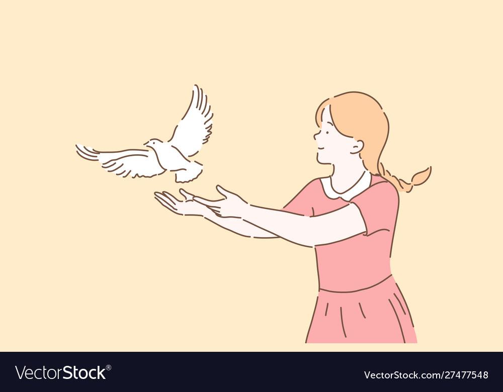 Peace symbol freedom metaphor concept