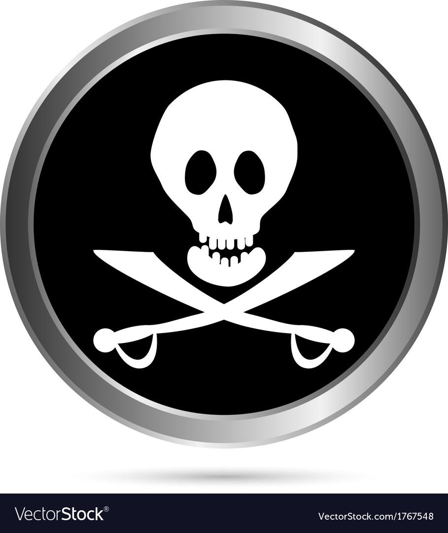 Piracy flag button